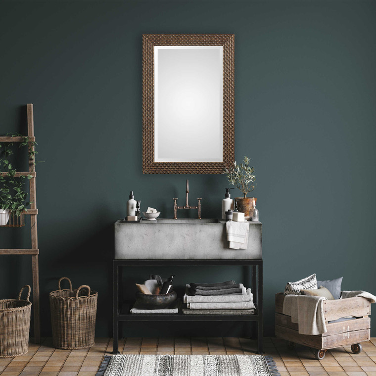 Lily Lifestyle Mirror Rust Bronze With Gold Highlights W00422
