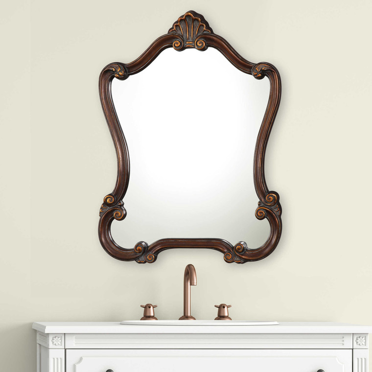 Lily Lifestyle Mirror Lightly Distressed Bronze W00423