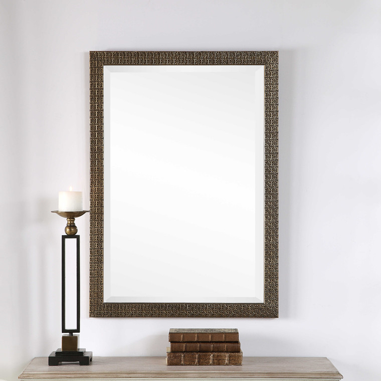 Lily Lifestyle Mirror Antique Gold Finish W00448