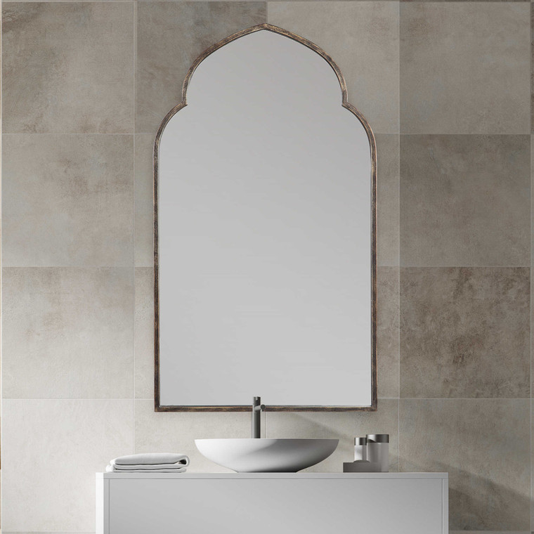 Lily Lifestyle Mirror Rich Dark Bronze With Golden Highlights W00452