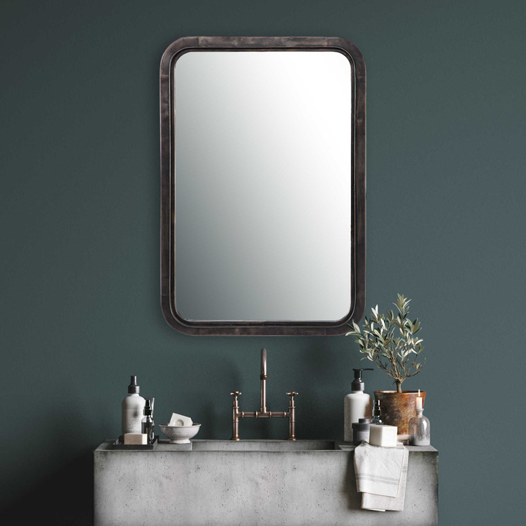Lily Lifestyle Mirror Finished In A Rich Dark Bronze With Gold Highlights W00455