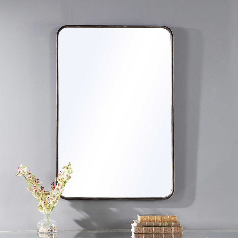 Lily Lifestyle Mirror Finished In A Rich Dark Bronze With Gold Highlights W00460