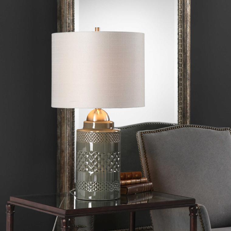 Lily Lifestyle Table Lamp Mushroom Gray Ceramic Glaze W26000-1