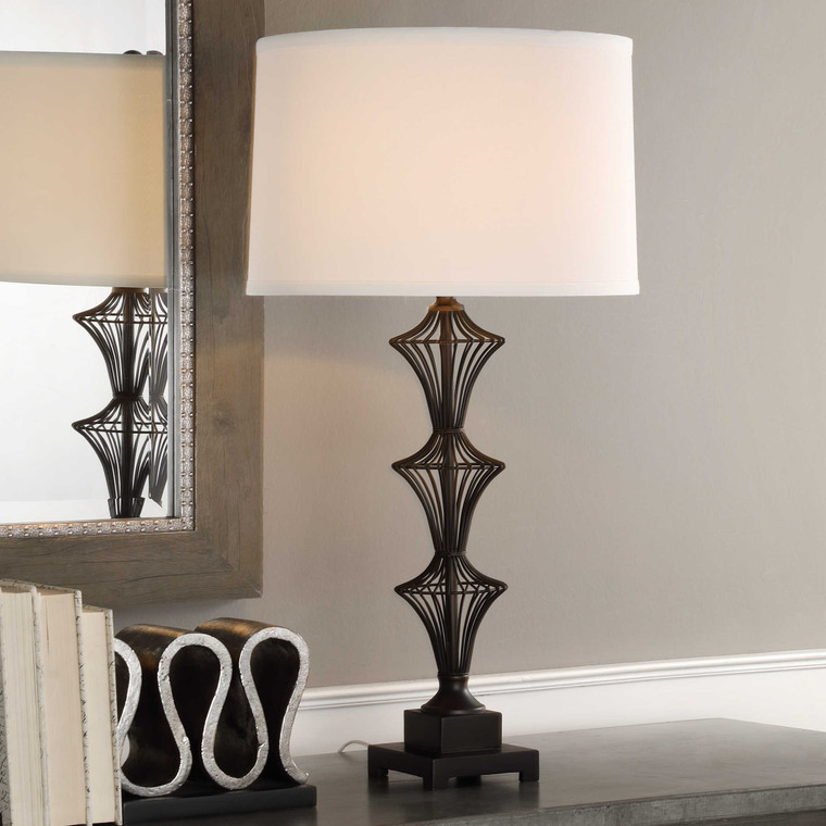 Lily Lifestyle Table Lamp Aged Black W26010-1