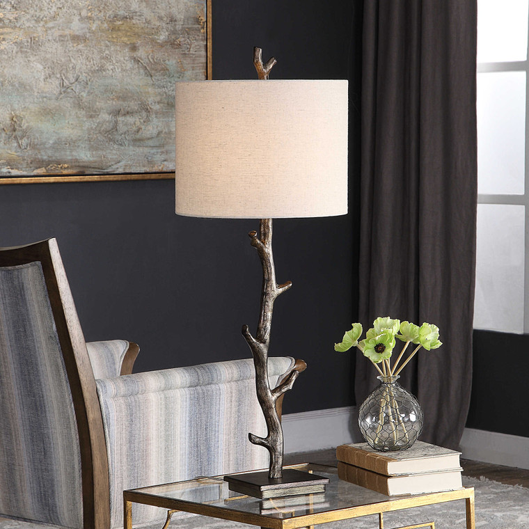 Lily Lifestyle Table Lamp Dark Bronze With Silver Undertones W26024-1