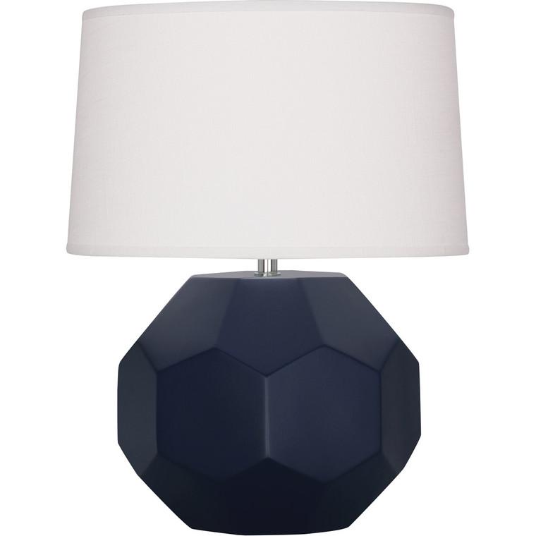 Robert Abbey Matte Midnight Blue Franklin Accent Lamp in Matte Midnight Blue Glazed Ceramic