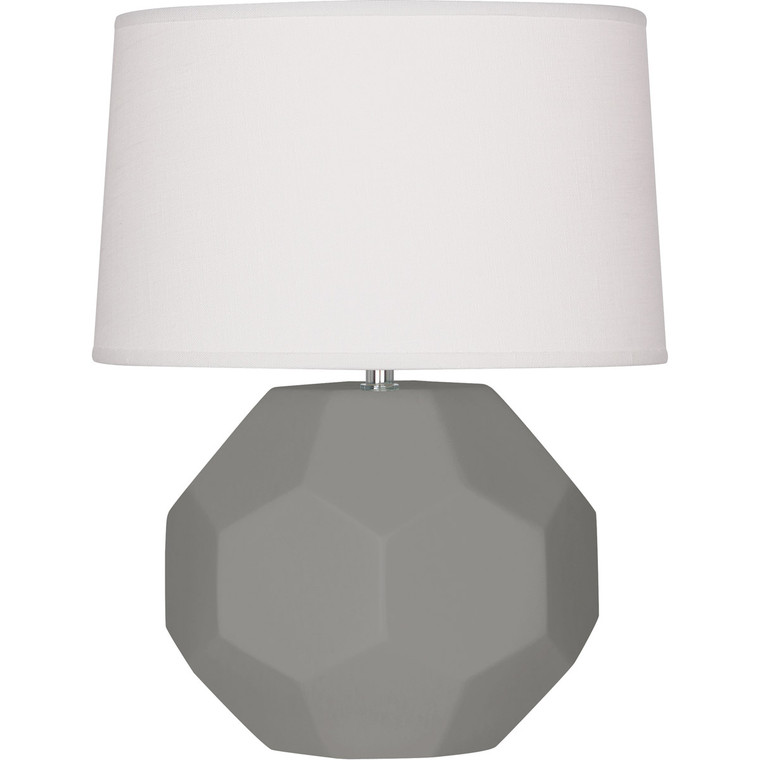 Robert Abbey Matte Smoky Taupe Franklin Table Lamp in Matte Smoky Taupe Glazed Ceramic