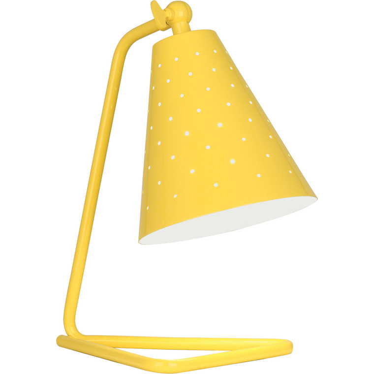 Robert Abbey Pierce Accent Lamp in Canary Yellow Gloss Finish