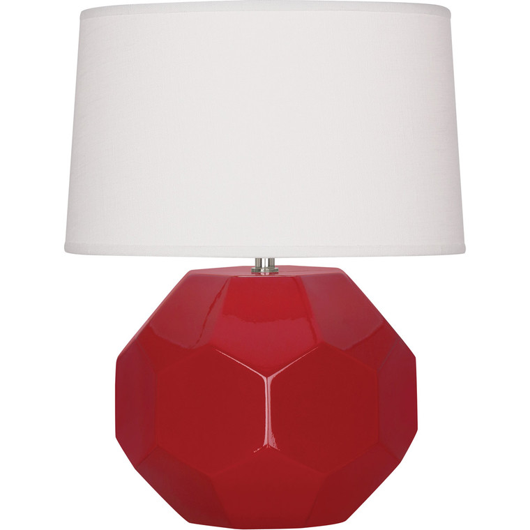 Robert Abbey Ruby Red Franklin Table Lamp in Ruby Red Glazed Ceramic