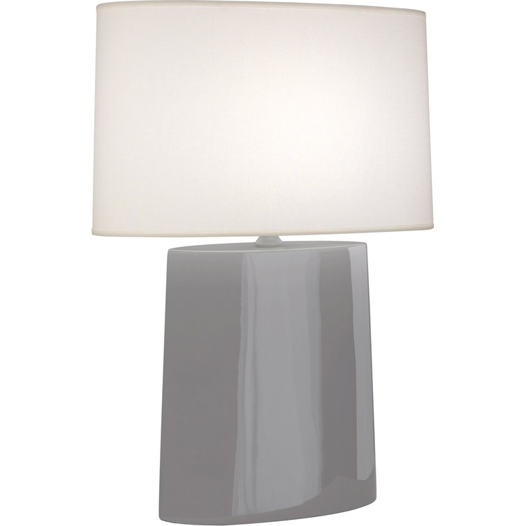Robert Abbey Smokey Taupe Victor Table Lamp in Smoky Taupe Glazed Ceramic