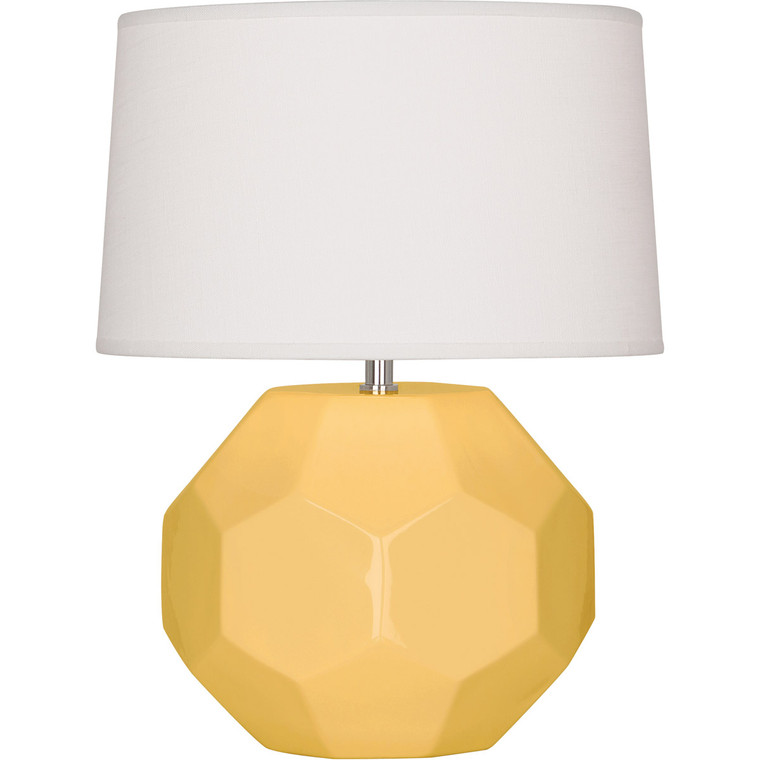 Robert Abbey Sunset Franklin Accent Lamp in Sunset Yellow Glazed Ceramic