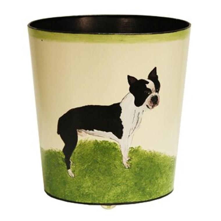 Worlds Away Boston Terrier Wastebasket WBBOSTTERRIER