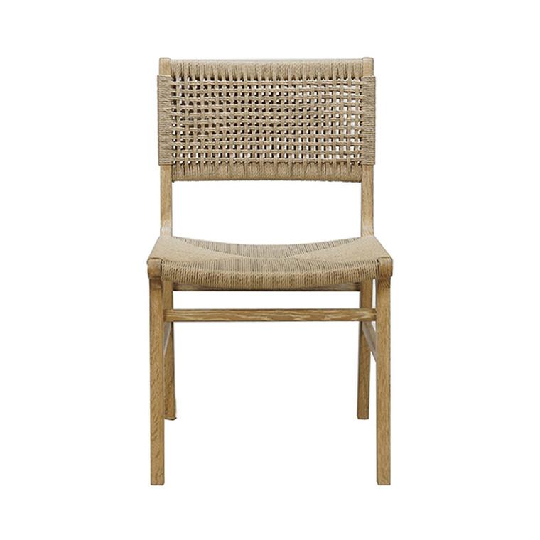 Worlds Away Monroe Chair in Cerused Oak MONROE CO