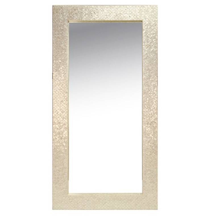 Worlds Away Frances with Pearlized Capiz Frame Mirror FRANCES