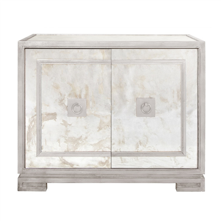 Worlds Away Ophelia Antique Mirror Cabinet With Silver Leaf OPHELIA S
