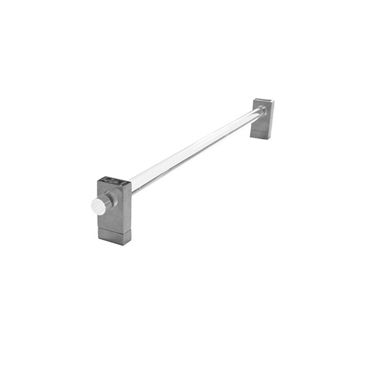 Worlds Away Smith Towel Bar in Nickel and Acrylic SMITH N