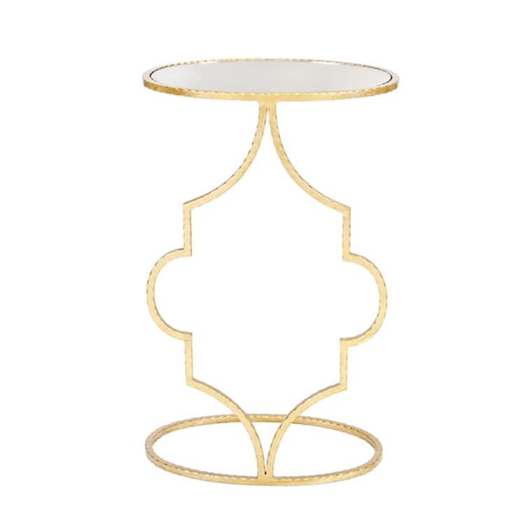Worlds Away Willa Gold Leafed Oval Cigar Table WILLA G