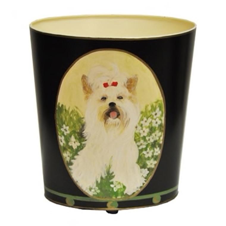 Worlds Away Yorkshire Terrier Wastebasket WBYORKTERRIER