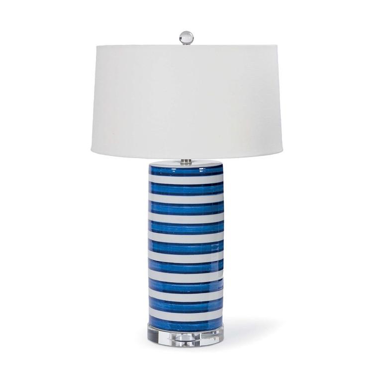 Regina Andrew Striped Ceramic Column Table Lamp 13-1115