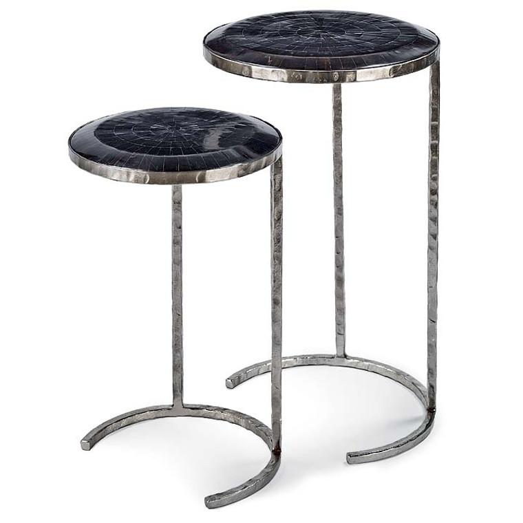 Regina Andrew Horn Veneer Nesting Tables 30-1008