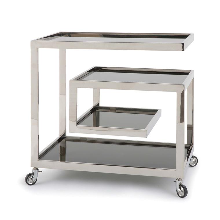 Regina Andrew Collins Bar Cart Polished Nickel 31-1023