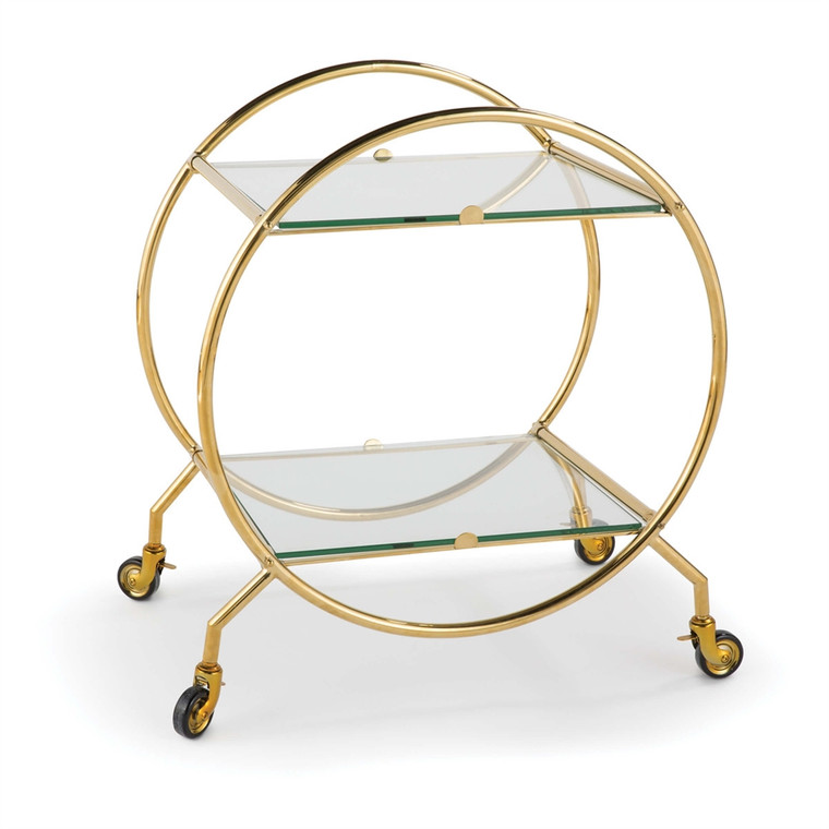 Regina Andrew Whiskey Bar Cart in Gold 31-1024GLD