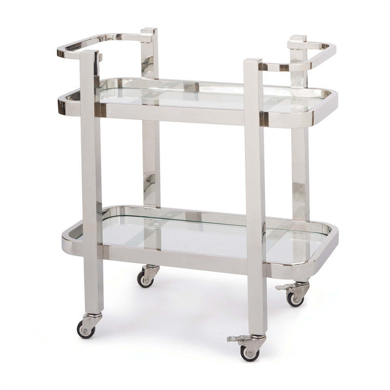 Regina Andrew Carter Bar Cart Small in Polished Stainless Steel 31-1030SS