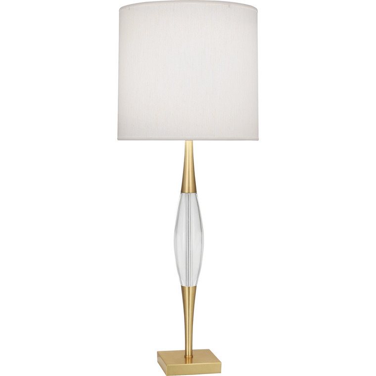 Robert Abbey Juno Table Lamp in Modern Brass Finish w/ Clear Glass Accent 207