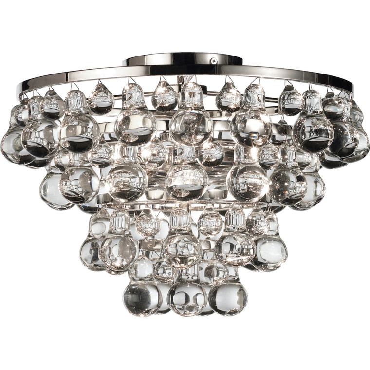 Robert Abbey Bling Flushmount in Polished Nickel S1002