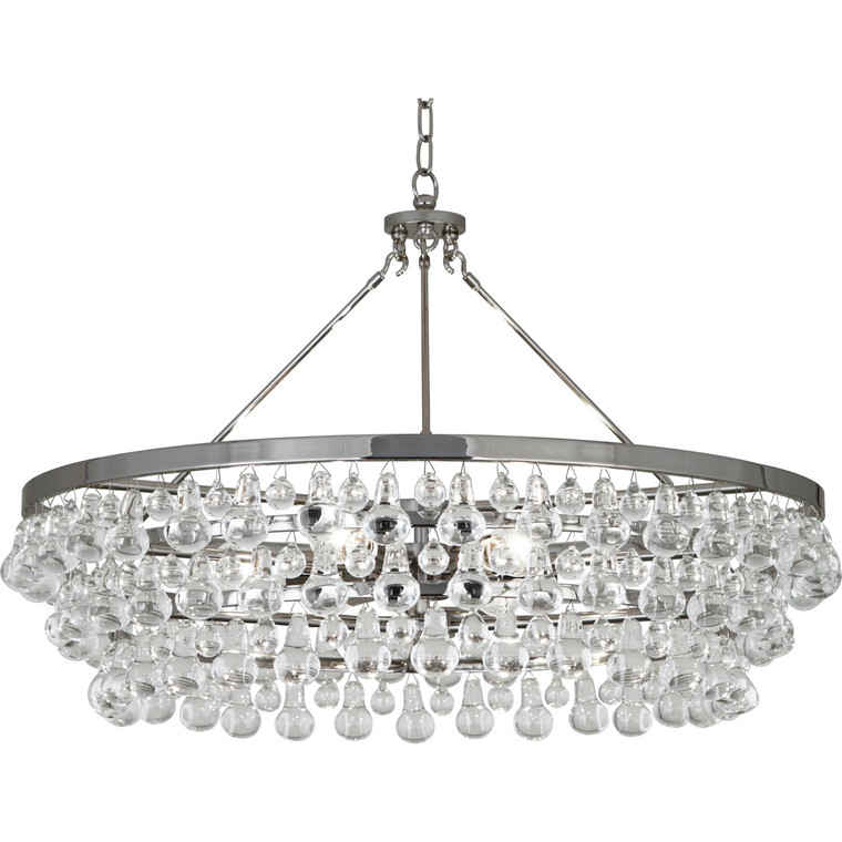 Robert Abbey Bling Chandelier in Polished Nickel Finish S1004