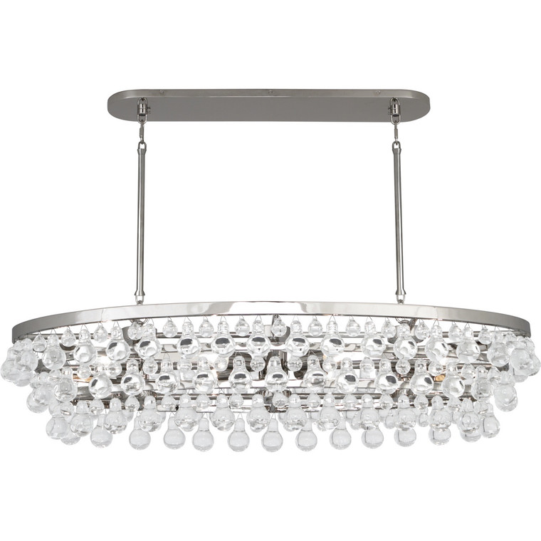Robert Abbey Bling Chandelier in Polished Nickel Finish S1007