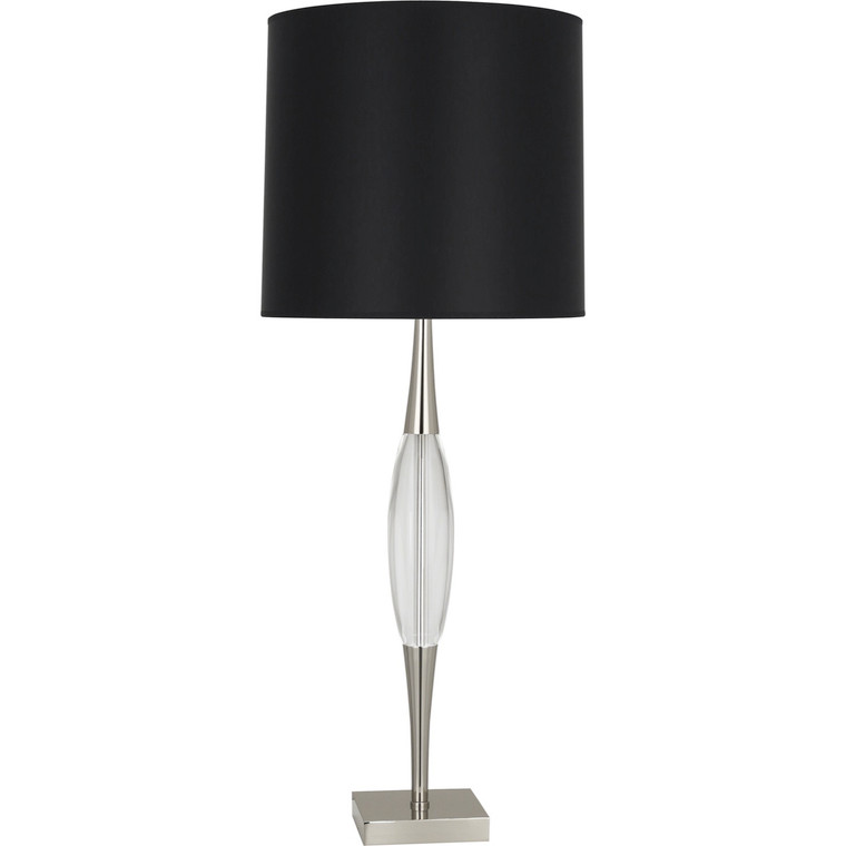 Robert Abbey Juno Table Lamp in Polished Nickel Finish w/ Clear Glass Accent S207B
