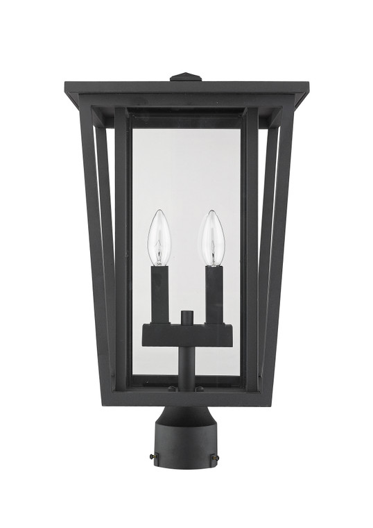 Z-Lite Seoul Outdoor Post Mount Fixture in Black 571PHBR-BK