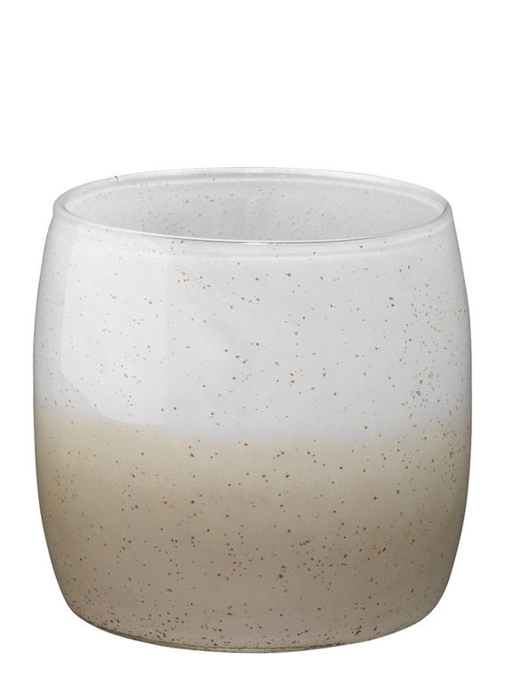 Jamie Young Solar Small Vase in Gold Ombre Glass 7SOLA-SMGO