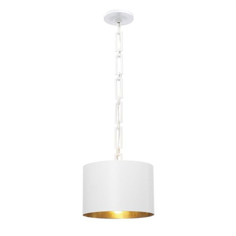 OPEN BOX NEW: Crystorama Brian Patrick Flynn for Crystorama Alston 1 Light Matte White Mini Chandelier 8683-MT-GA