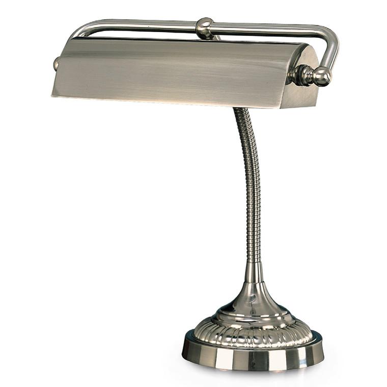 Lite Master Lauren Piano or Desk Lamp in Nickel on Solid Brass T5919NK