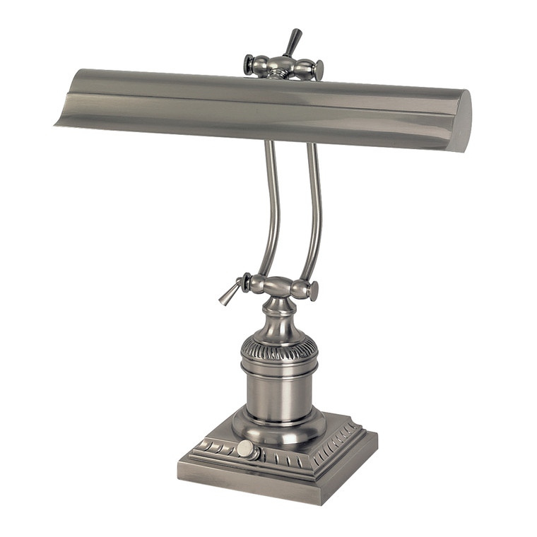Lite Master Celeste Piano or Desk Lamp in Antique Nickel on Solid Brass T5924AN