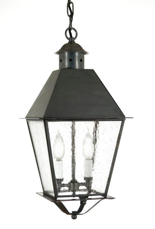 Fourteenth Colony Outdoor Lighting Greenwich Hanging Lantern Metal Top 2 Candle Bulbs 4452