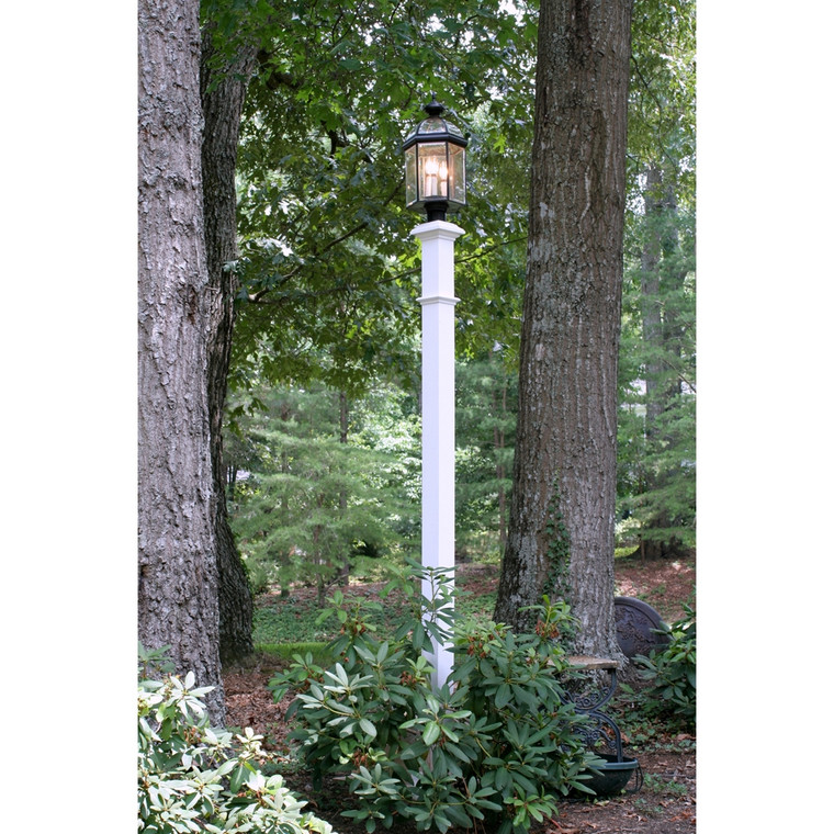 Wooden Lamp Post