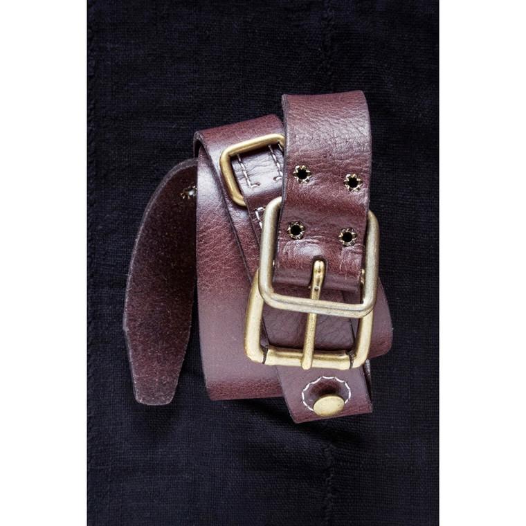 Regina Andrew Mod's Brown Leather Belt 76-01-0013