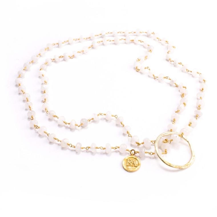 Regina Andrew Betty Eyeglass Holder Necklace Moonstone 67-08-0015M