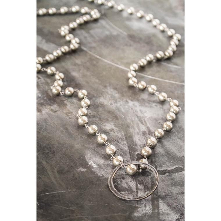 Regina Andrew Betty Eyeglass Holder Necklace Basic Round Pyrite 67-08-0033V