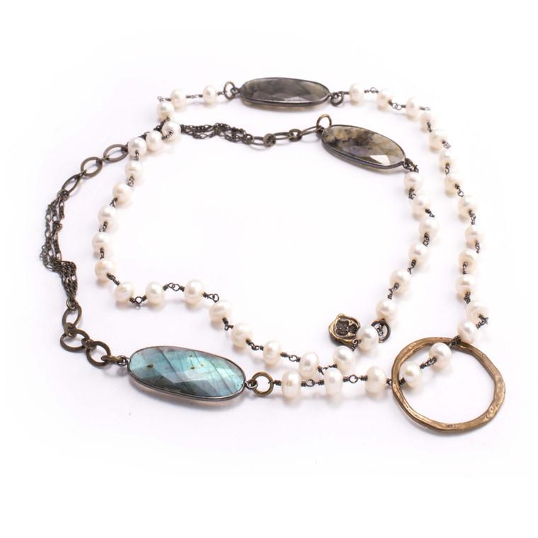 Regina Andrew Nola Eyeglass Holder Necklace Pearl 67-08-0005V