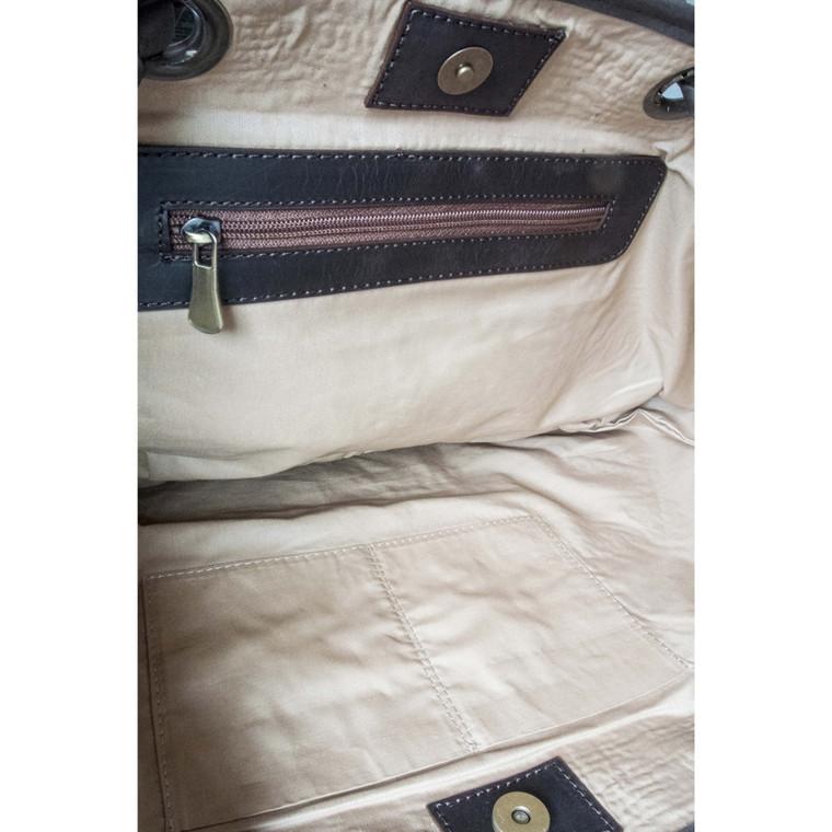 Regina Andrew Overdyed Vintage Rug Bag in Dark Grey 77-02-0004DGRY