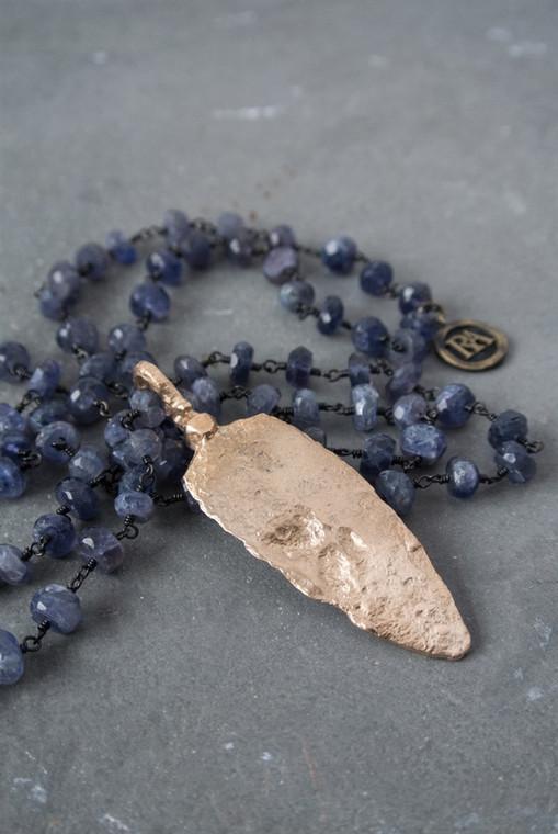 Regina Andrew Faith Necklace Faith Necklace Lolite Arrowhead (Bronze) 67-01-0064