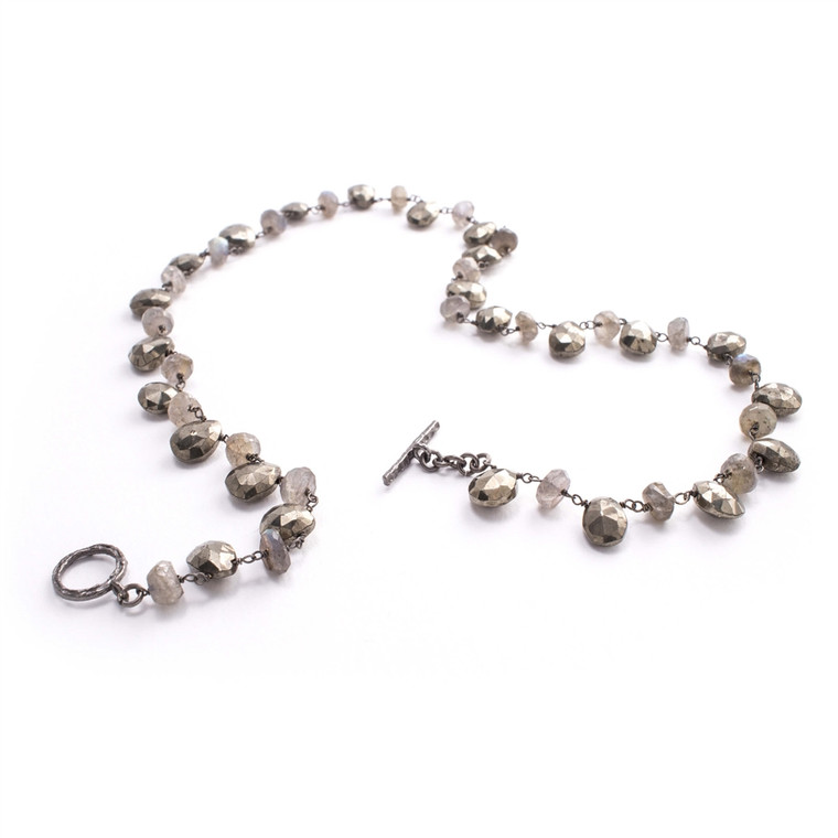 Regina Andrew Olivia Necklace Pyrite and Labradorite Necklace 67-03-0046