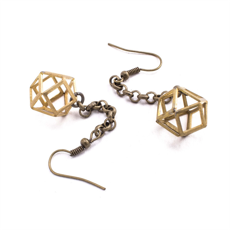 Regina Andrew Polly Earrings Small (Antique Brass) 67-06-0118