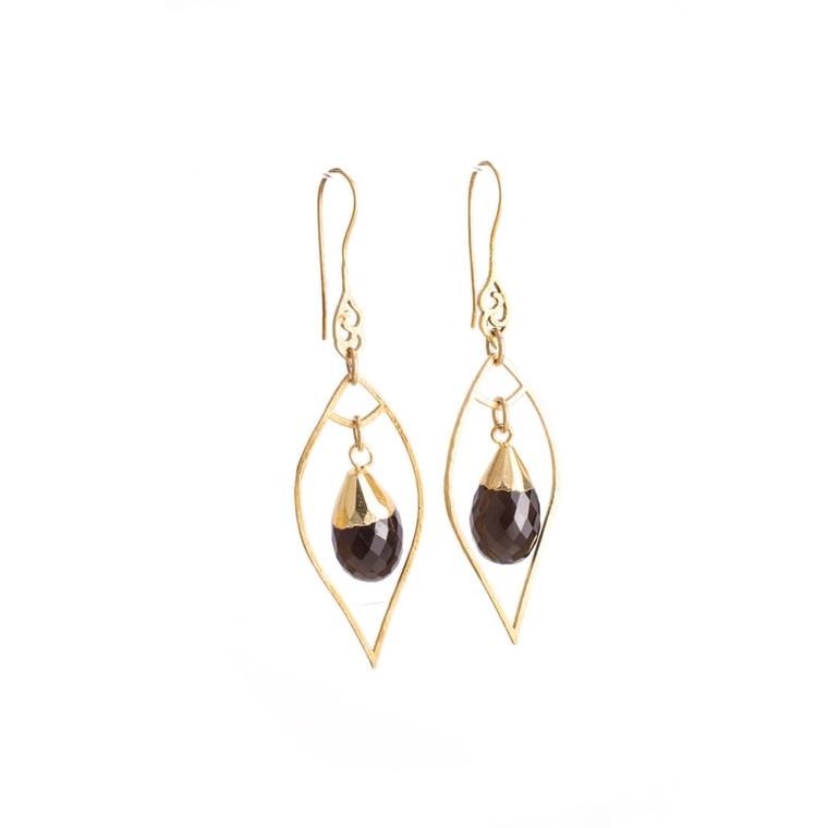 Regina Andrew Sophia Earrings Smoke (Gold) 67-06-0014M
