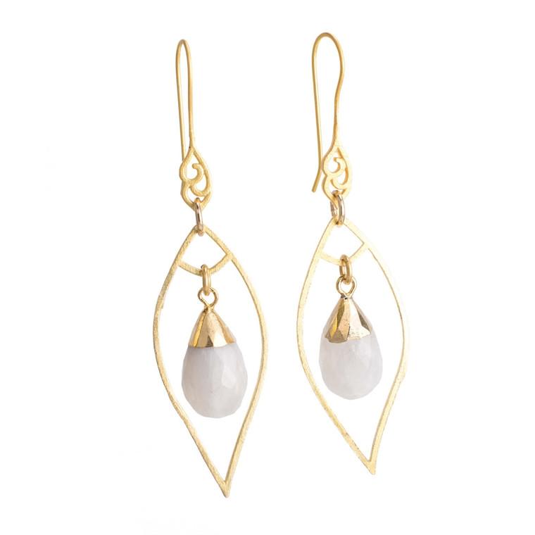 Regina Andrew Sophia Earrings Moonstone (Gold) 67-06-0017M
