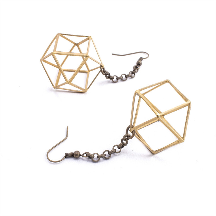 Regina Andrew Polly Earrings Large (Antique Brass) 67-06-0119